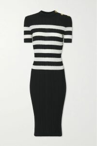 Innika Choo - Hans Ufmafrök Smocked Embroidered Linen Mini Dress - Peach