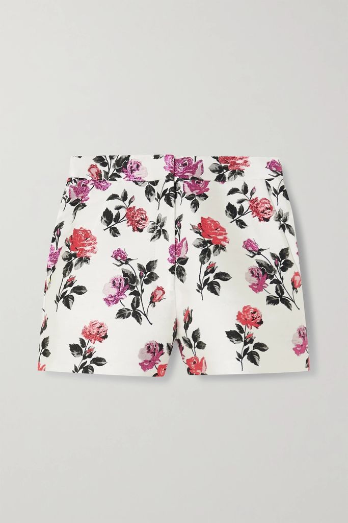 J.Crew - Marcy Polka-dot Embroidered Tweed Mini Dress - Camel