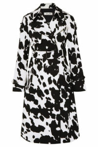 Diane von Furstenberg - Kaia Printed Stretch-cotton Twill Trench - Black