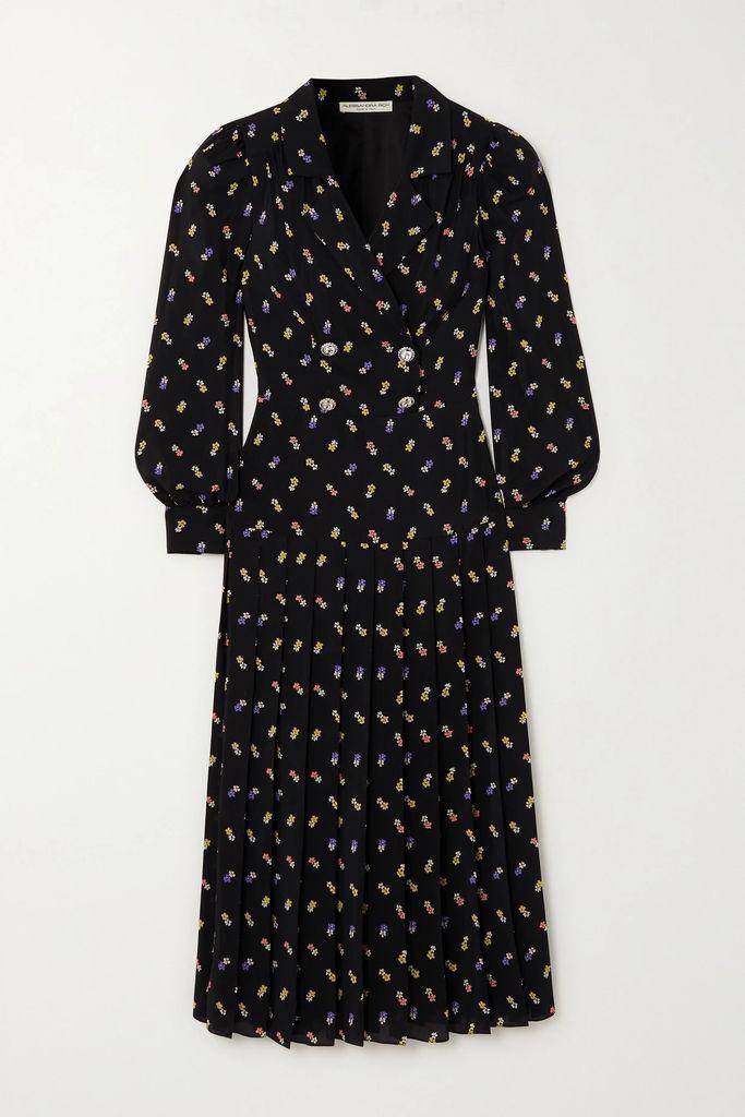 Veronica Beard - Carta Embroidered Silk-blend Blouse - Black