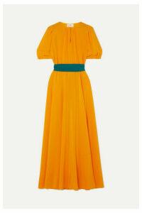 ARoss Girl x Soler - Brooke Silk Crepe De Chine Midi Dress - Mustard