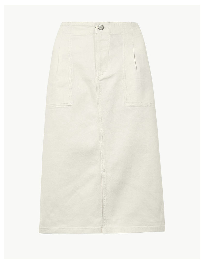 M&S Collection Utility Denim Skirt