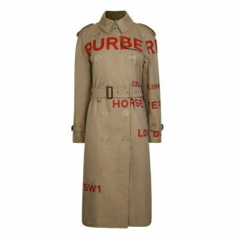 BURBERRY Burberry Horse Print Trench Coat