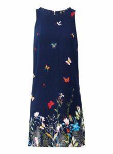 Womens *Izabel London Navy Floral Print Shift Dress- Multi Colour, Multi Colour