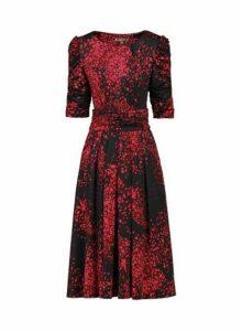 Womens *Jolie Moi Black Printed Skater Dress- Black, Black