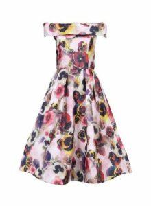 Womens *Jolie Moi Pink Floral 3D Print Dress- Pink, Pink