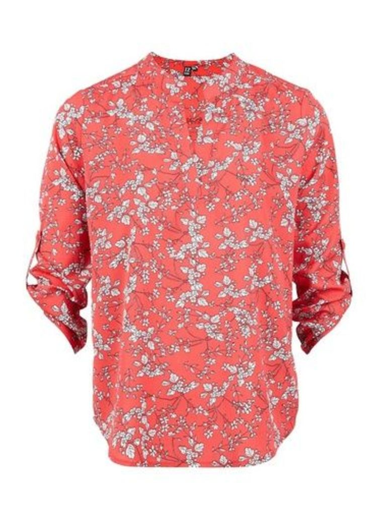 Womens *Izabel London Red Ditsy Floral Print Blouse- Red, Red