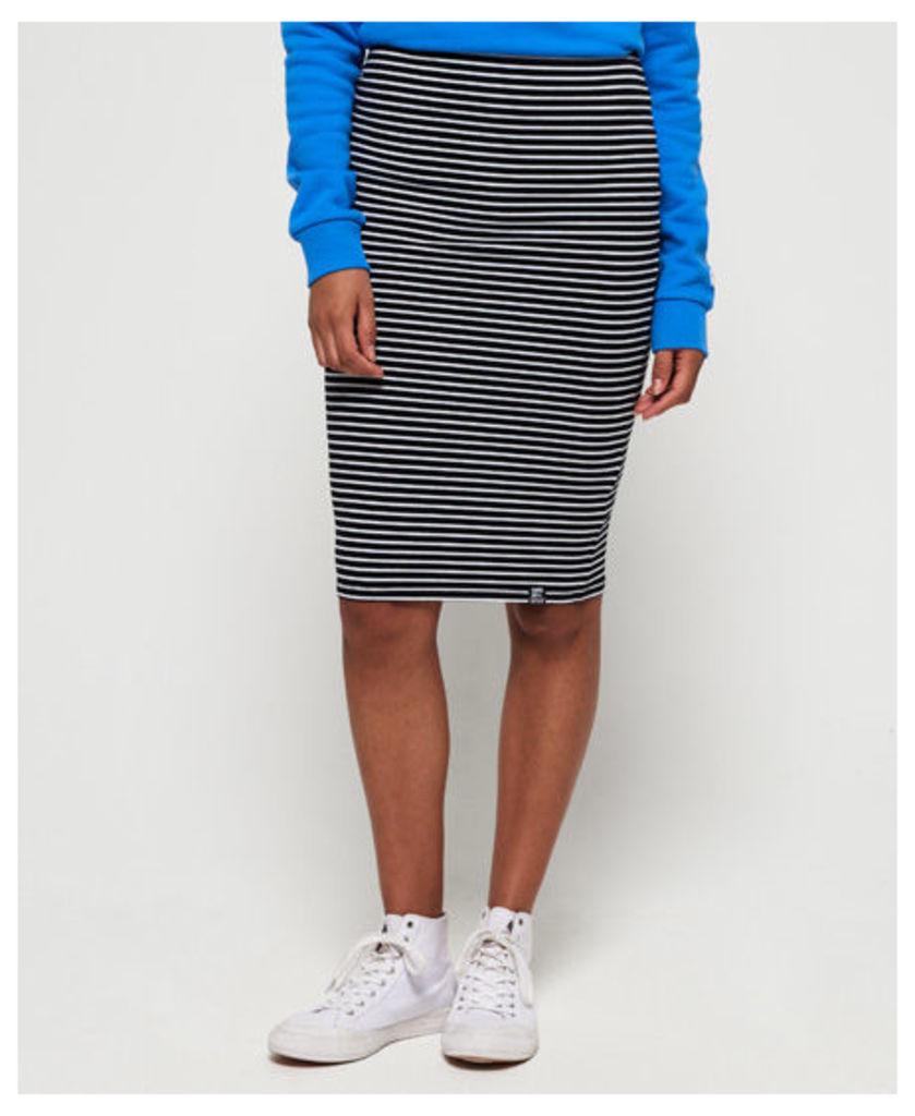 Superdry Stripe Midi Skirt