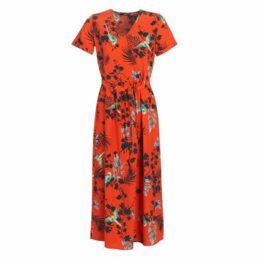 Only  ONLLAURA  women's Long Dress in Orange