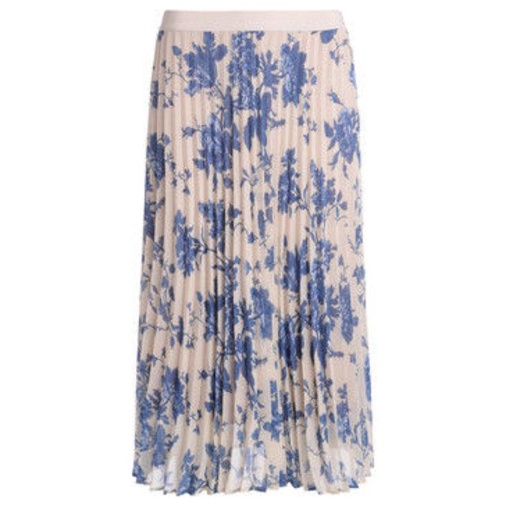 Semicouture  Gonna Federick plissè bianca con fiori  women's Skirt in Other