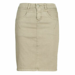 Cream  AMALIE  women's Skirt in Beige