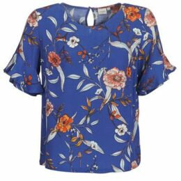 Cream  ALLY  women's Blouse in Blue