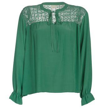 Cream  MILANIE  women's Blouse in Green