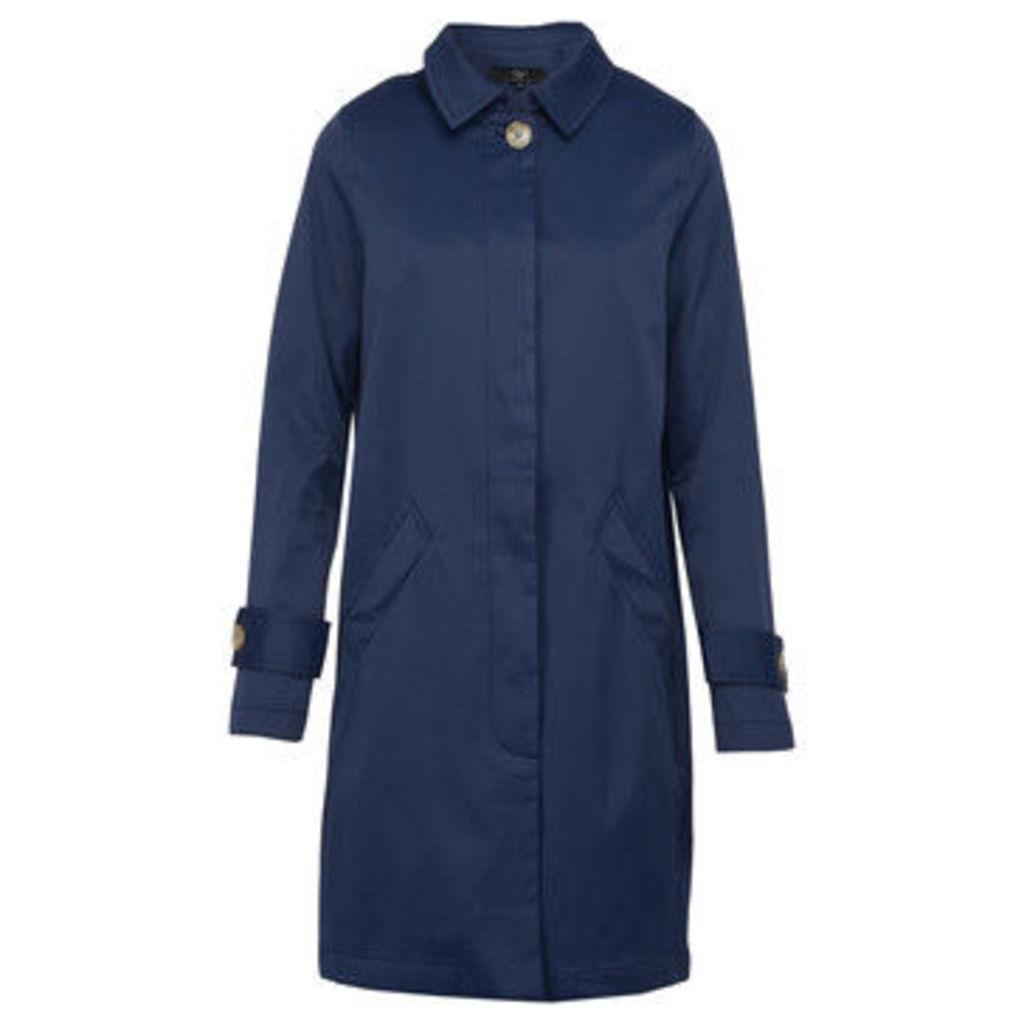 On Parle De Vous  Straight Gabardine  women's Coat in Blue