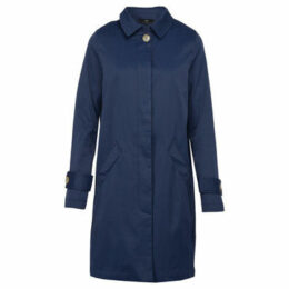 On Parle De Vous  Straight Gabardine  women's Coat in Blue