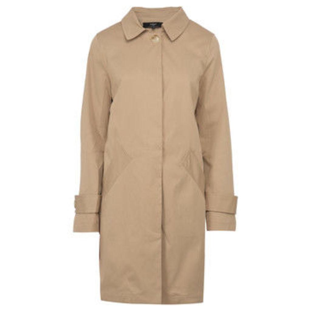 On Parle De Vous  Straight Gabardine  women's Coat in Beige