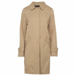 On Parle De Vous  Straight Gabardine  women's Coat in Beige