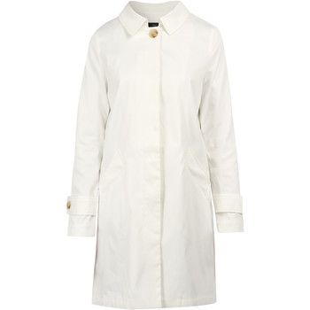 On Parle De Vous  Straight Gabardine  women's Coat in White