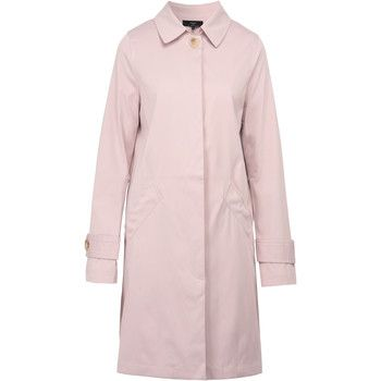 On Parle De Vous  Straight Gabardine  women's Coat in Pink