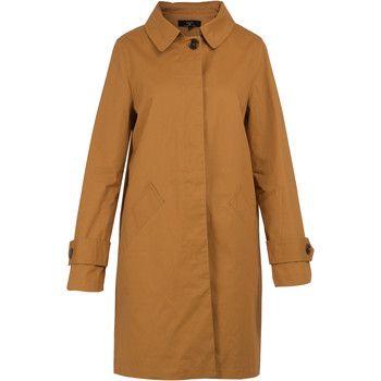 On Parle De Vous  Straight Gabardine  women's Coat in Brown