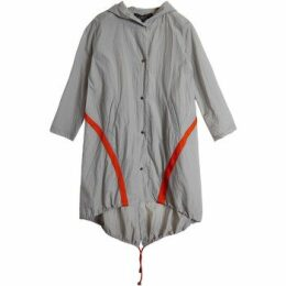 On Parle De Vous  Windbreak contrast band  women's Coat in Grey