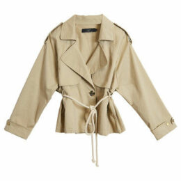 On Parle De Vous  Short trench  women's Trench Coat in Beige