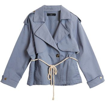 On Parle De Vous  Short trench  women's Trench Coat in Grey