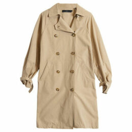 On Parle De Vous  Double-breasted straight trench  women's Coat in Beige