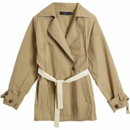 On Parle De Vous  Belted fluid trench  women's Trench Coat in Beige