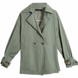 On Parle De Vous  Belted fluid trench  women's Trench Coat in Green