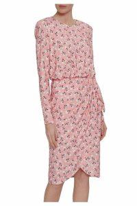 Womens Gina Bacconi Pink Ricci Floral Print Jersey Dress -  Pink