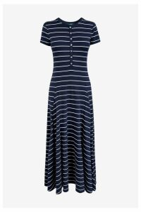 Womens Lauren Ralph Lauren Navy Modal Dress -  Blue