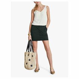 hush Velma Short Chino Skirt, Black
