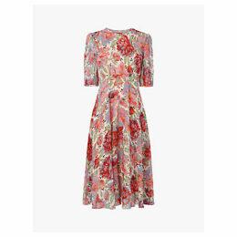 L.K.Bennett Garland Full Sleeve Floaty Dress, Multi