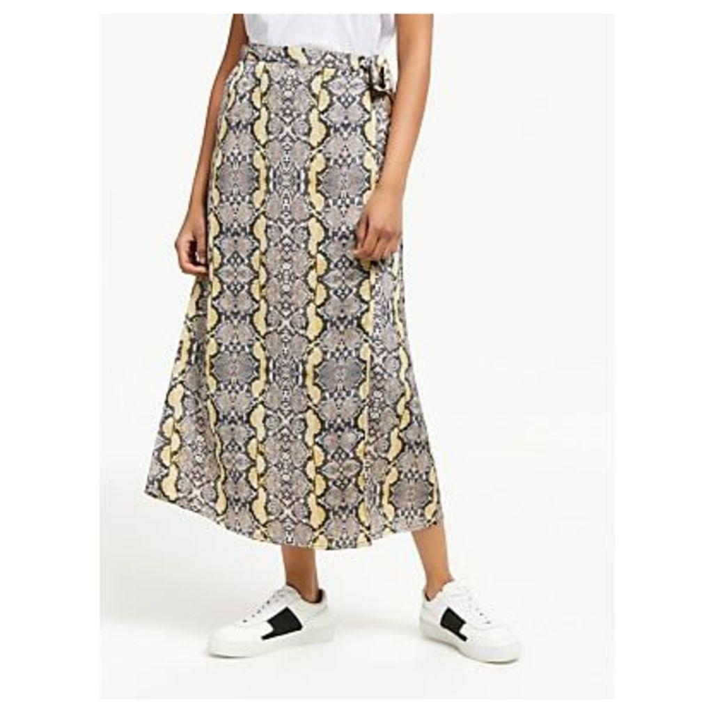 Just Female Naomi Skirt, Snake Print