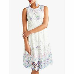 Yumi Flower Lace Dress, White/Multi
