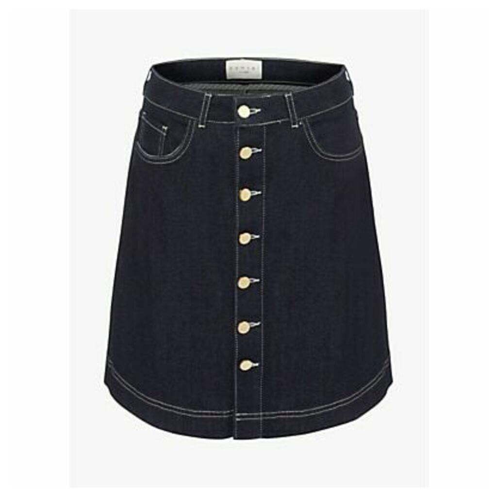 Damsel in a Dress Mea Denim Skirt, Blue