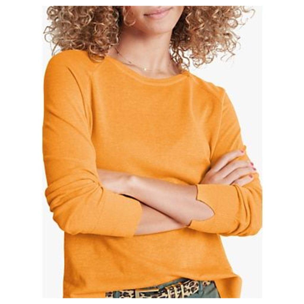 hush Serin Linen Cotton Jumper, Marigold