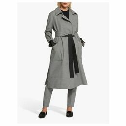 Helen McAlinden Lydia Gingham Trench Coat, Black/White