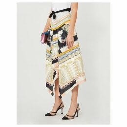 Obelisk woven skirt