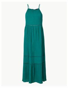 M&S Collection Pure Cotton Slip Midi Dress