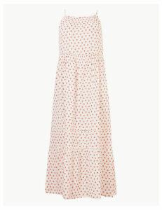 M&S Collection Pure Cotton Floral Print Slip Midi Dress