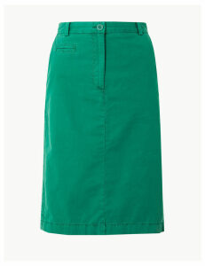 M&S Collection Pure Cotton Chino Skirt