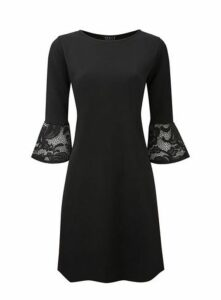**Grace Black Shift Dress, Black