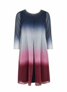 Navy Ombre Midi Dress, Dark Multi