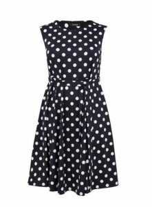 Navy Cap Sleeve Dress, Navy