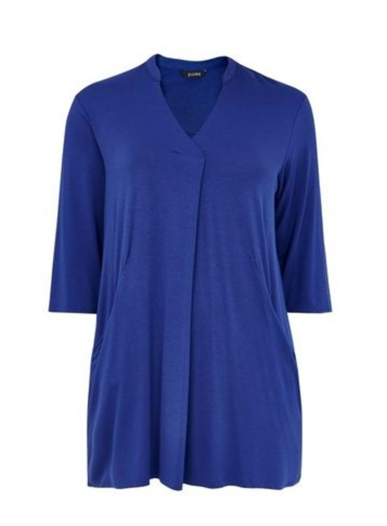 Blue Jersey Tunic, Royal Blue