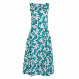 Mini Positano Cotton Sateen Fit and Flare Dress