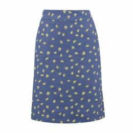 Lemon Drop Linen A Line Skirt