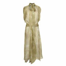 Petar Petrov Snake Print Sheer Dress